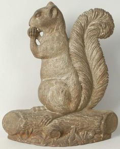 Bradley & Hubbard cast iron squirrel doorstop