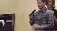 Love Jensen's long suffering patience with Jared. *gif*