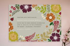 Ladybug Garden Wedding Invitations