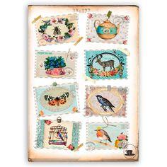 Vintage Postzegelkaarten €13,95