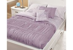 Shop for a Pretty in Pleats Purple Full Bed Set at Rooms To Go Kids. Find  that will look great in your home and complement the rest of your furniture.