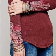 Free-People-Kyoto-Cuff-Thermal-XS-Mulberry-NWT