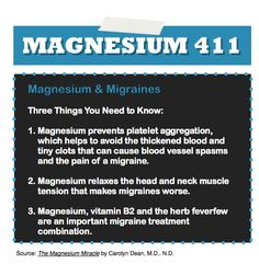 MAGNESIUM & MIGRAINES, I take magnesium and B2, what's next?