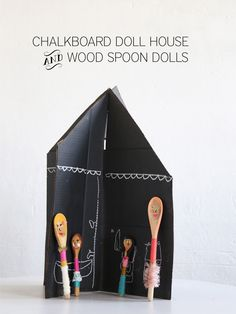 DIY: chalk board doll house