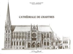 Paper model of Chartres Cathedral - Front cover of booklet