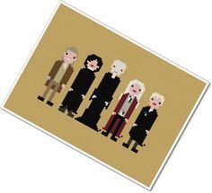 Harry Potter enemies pixel people cross-stitch