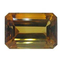 59.83 ct Emerald Cut Citrine Golden Yellow -Gold Crane & Co.