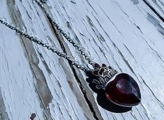 Queen of Hearts Necklace, Once Upon A time, Heart Necklace, Ruby Heart, Red Heart Necklace, valentines day, Costume Accessory, Wonderland