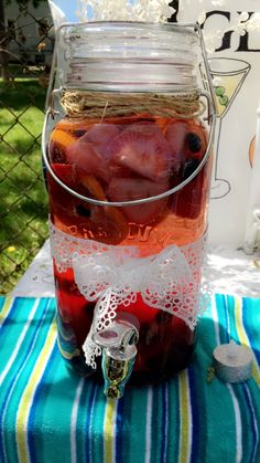 Blood orange, Blueberry, strawberry, sangria with prosecco and peach juice