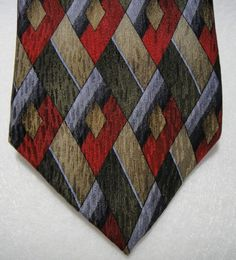 "Cocktail Colors Handmade 100% Silk Necktie 69"" Fully Lined Elongated Diamond  #CocktailColors #NeckTie"
