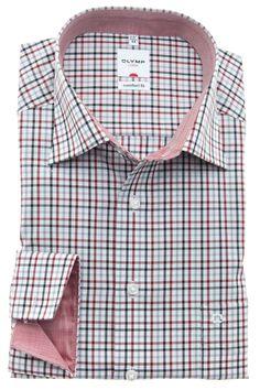 Een prachtig geruit overhemd met blauwe en rode accenten. http://www.hemdenonline.nl/item-overhemden-olymp-olymp-6129-64-33-3356p39_53.html# Olymp 6129-64-33