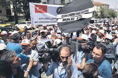 Protesters condemn Israel outside its Embassy in Turkey.
