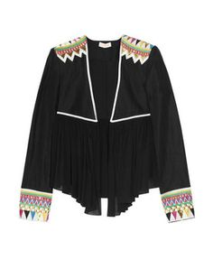 Buy Sass & Bide Women's Black My Favourite Game Embroidered Silk-blend Jacket. Similar products also available. Uk Fashion, Hijab Fashion, Fashion Design, Street Fashion, Preppy Style, Style Me, Blazers, Embroidered Jacket, Festival Fashion