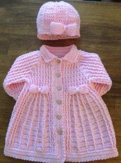 Image gallery – Page 103160647699506363 – Artofit Diy Crochet Cardigan, Crochet Baby Sweaters, Crochet Baby Dress Pattern, Baby Cardigan Knitting Pattern, Baby Dress Patterns, Crochet Coat, Baby Girl Crochet, Crochet Baby Clothes, Baby Knitting Patterns