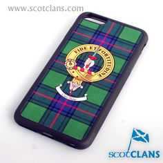 Shaw Clan Crest and Tartan iPhone Cover. Free worldwide shipping available