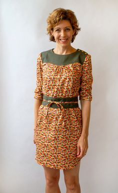 Lisette Patterns Itinerary Dress (seeing this in a chambray with decorative top stitching)