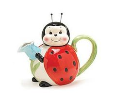 Unique teapot | Cool Unusual Teapots Seen On coolpicturegallery.blogspot.com -- I LOVE lady bugs! This is so cute!
