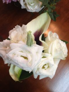 Calla and White Lisanthus Corsage by Alta Fleura