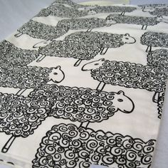 Organic Baby Blanket in Modern Sheep - Childrens Bedding Blanket for Eco Friendly Kids in Black and White (Ready to Ship). $59.00, via Etsy.