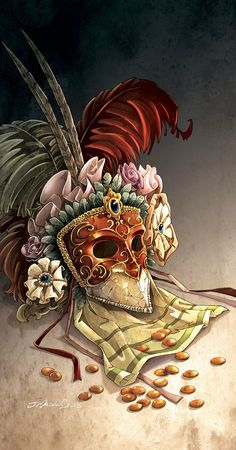 couverture mascarade Art Et Illustration, Masquerade, Venice, Illustrator, Italy, Painting, Inspiration, Game, Carnival