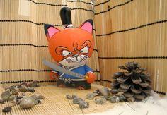 #Designer #Toy #Kidrobot #Trikky #Vinyl #Kitsune #Akuma 101 #Samurai #Custom