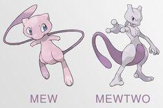 Mew y Mewtwo