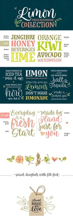 Limon Font: Limon Script matches very well with Dress. The script font will work in your app as you see in the pos. Typeface Font, Typography Fonts, Mixing Fonts, Making Iced Tea, Commercial Use Fonts, Hand Lettering Practice, Cricut Fonts, The Script, Handwritten Fonts
