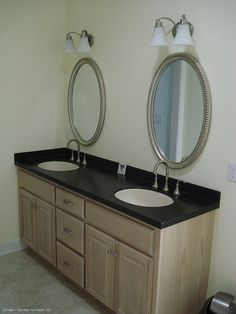 Plan #540 - The Anniston - Dual vanities in the master bathroom. http://www.dongardner.com/plan_details.aspx?pid=499. #DualVanities #MasterBathroom #Design
