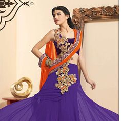 #Purple Net #LehengaCholi with Dupatta