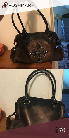 Miss me purse! Super cute brown and black miss me purse. Used for maybe a week. It is in great condition! Miss Me Bags Shoulder Bags