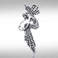 Fancy Fairy Silver Pendant TP123 -   This fanciful fairy is sure to delight anyone who has a passion for magic and enchantment.  Peter Stone - the world's leading manufacturer of fine sterling silver jewelry - has created the Fairy Collection to celebrate the fairy's prominent yet elusive place in folklore and legend.  Meticulously crafted from fine sterling silver, the Fancy Fairy Silver Pendant captures the enchantment, whimsy, and charm of the fairy.