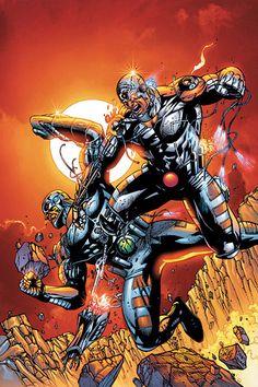 #Cyborg #Fan #Art. (DC Special Cyborg Vol.1 #3 Cover) By: Tony S Daniel & Sandu Florea & JD Smith. ÅWESOMENESS!!!