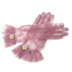 Sheer Gloves Vintage Style Nylon Gloves Retro by curtainroad