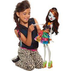 """Monster High 28"""" Beast Freaky Friend, Skelita"""