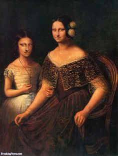 Mona Lisa with her Daughter PaintingFosterginger.Pinterest.ComMore Pins Like This One At FOSTERGINGER @ PINTEREST No Pin Limitsでこのようなピンがいっぱいになるピンの限界