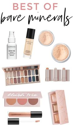 best of bareMinerals – all of the cult-favorite Bare Minerals makeup products! S… best of bareMinerals – all of the cult-favorite Bare Minerals makeup products! Such an underrated makeup brand with so many beautiful products. Lots of great gift ideas too! Beauty Box, Diy Beauty, Beauty Hacks, Beauty Tips, Beauty Products, Beauty Care, Beauty Skin, Natural Makeup Products, Beauty Tutorials