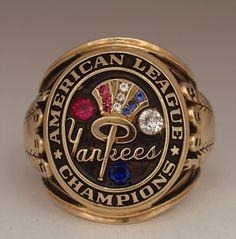 "1963 New York Yankees World Series ""American League"" Champions 14K Gold Ring"