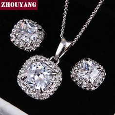 Купить Высокое качество ZYS009 18 К белый элегантные свадебные украшения…