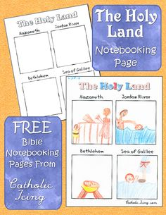 Teach your kids about the Holy Land- this Bible notebooking page is free to print, and there are tons more. Check it out!