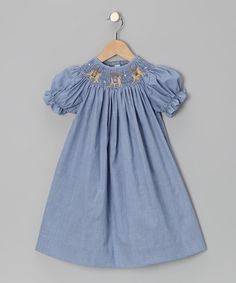 Take a look at this Blue Reindeer Bishop Dress - Infant, Toddler & Girls on zulily today!