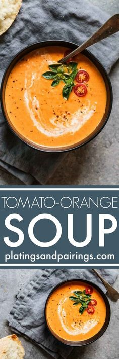 Tomato Orange Soup is the creamiest tomato soup recipe you will find. Plus, it's got a great tang for the orange juice. It's the perfect winter soup for chilly days.