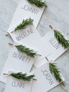 Rosemary place card holders