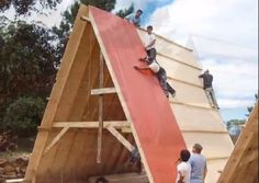 Images: Andres Nubruno/YouTube Video   If you enjoyed this construction video on A-frames you'll lov