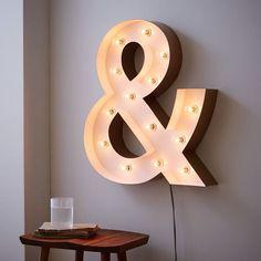 modern-marquee-lights-ampersand-o.jpg (710×710)