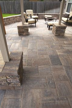The Best Stone Patio Ideas | Patio blocks, Paver designs and Walkways
