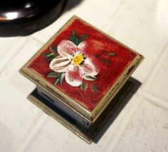 Trinket Box / Jewlrey Box / Upcycled Painted Box by memoriesaglow, $22.00
