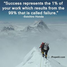 We will fail many more times than we succeed, so look at failure as an opportunity to learn and get better, then try not to make the same mistake twice. #PersonalDevelopment #SelfImprovement #Entrepreneur #Success