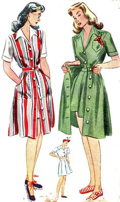 Vintage Sewing Pattern 1940s Simplicity 4643 Skirt, Matching Blouse, Jumper and Shorts Size 12 Bust 30. $14.00, via Etsy.