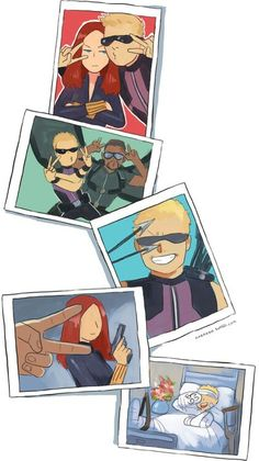 Avenger picture time || Clint Barton, Natasha Romanoff, Sam Wilson || 421px × 750px || #fanart