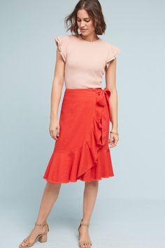 Slide View: 2: Ria Ruffled Skirt